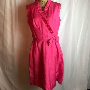 Vintage Sleeveless V-Neck Dress